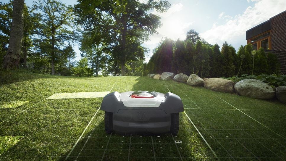 Husqvarna automower on lawn